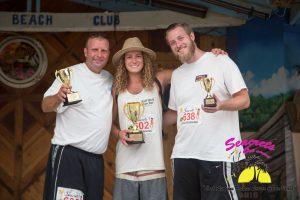 "The winners of Seacrets ""Cool Runnins Fastest Server on Da Beach"" in Ocean City, MD."