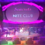 the seacrets nite club big screen