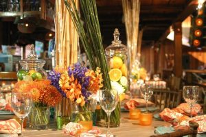 Orange Table Accents