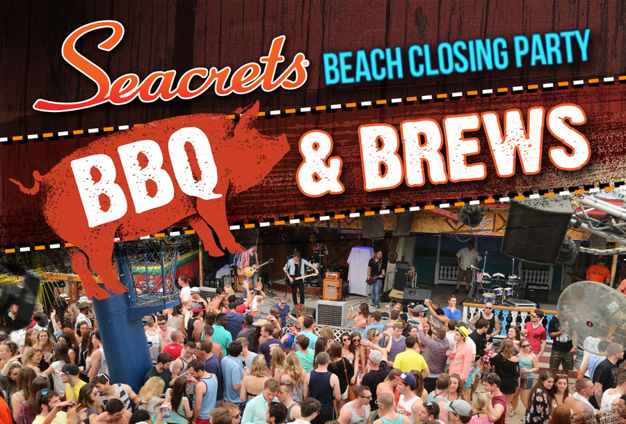 crowds gather at Seacrets beach stage
