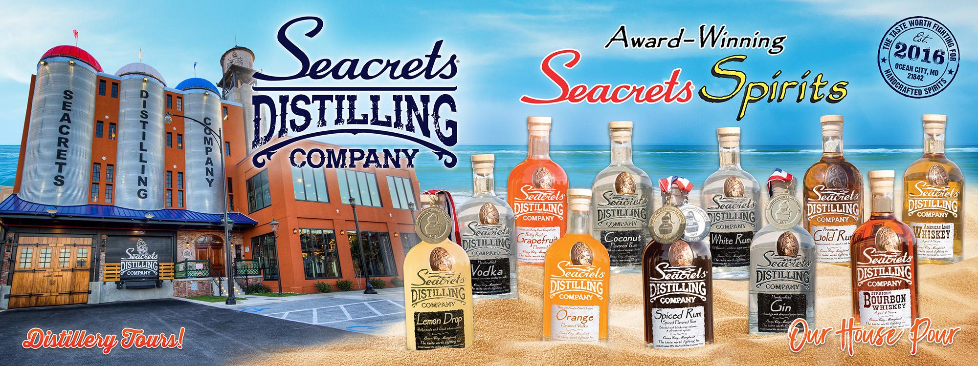 Seacrets Distilling Company Banner